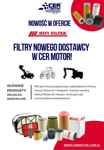 Filtry od nowego dostawcy w Cer Motor